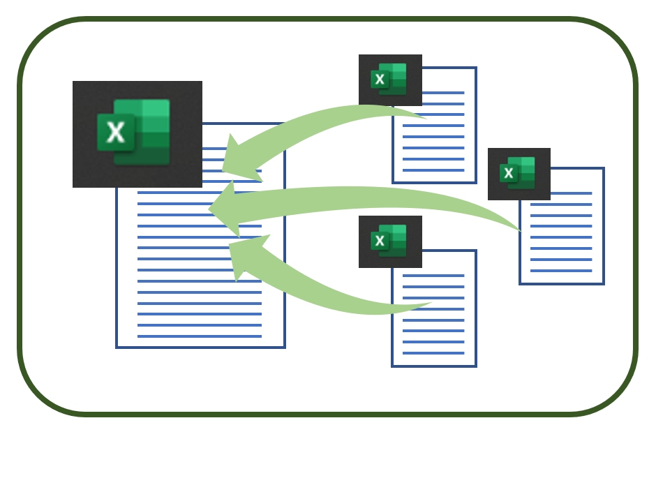 【Excel】 バラバラに保存されたファイルを一覧に集約する